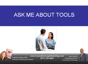 "Using ""Ask Me About"" tools to spark new patients"